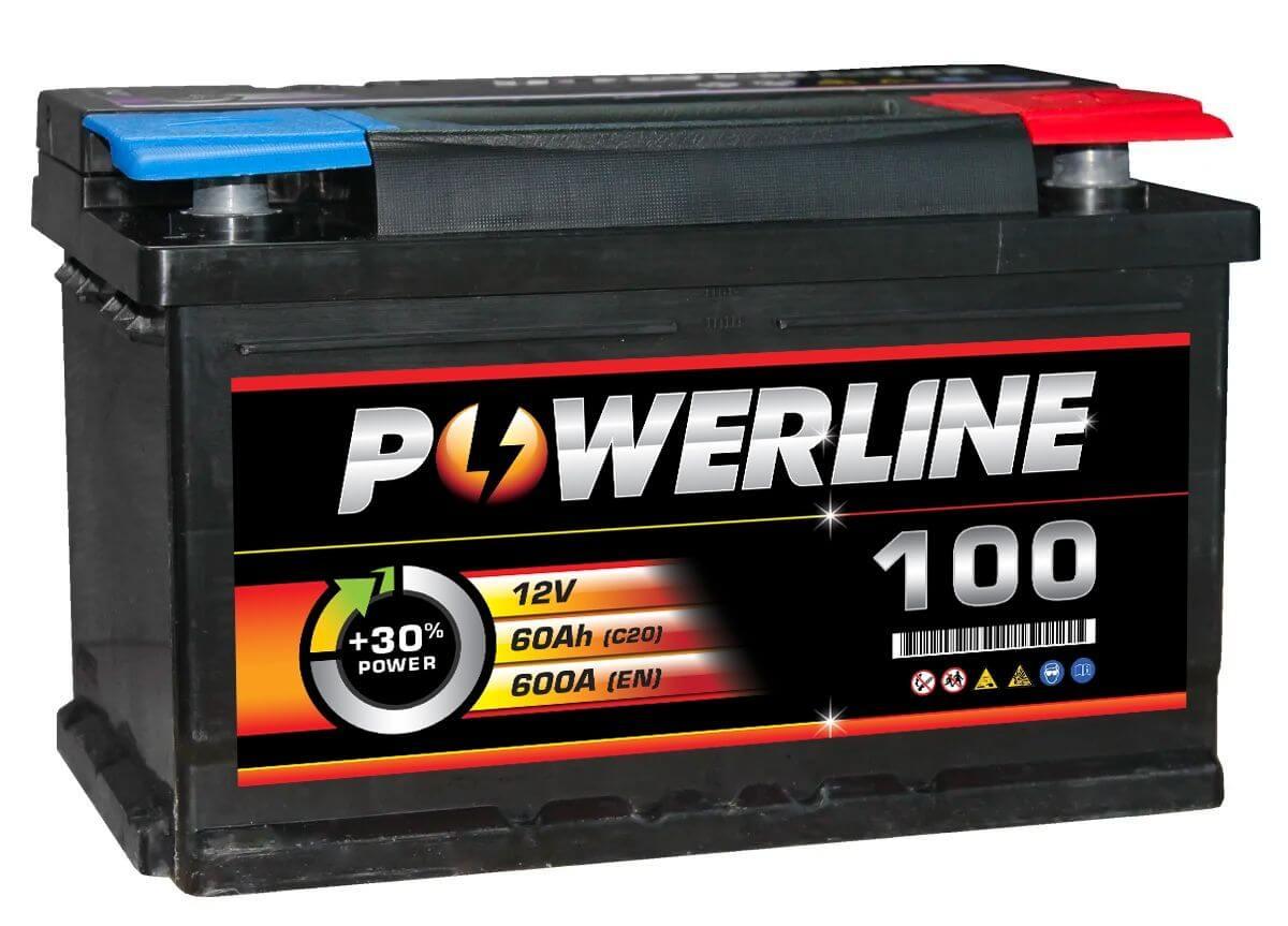 100 Powerline Car Battery 12V