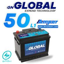 باطری ۵۰L1 آمپر گلوبال برنا باتری