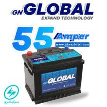 باطری ۵۵ آمپر گلوبال برنا باتری