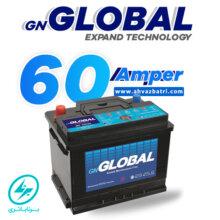 باطری ۶۰ آمپر گلوبال برنا باتری