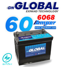 باطری ۶۰ آمپر بلند گلوبال برنا باتری ۶۰۶۸