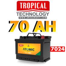 باطری ۷۰R آمپر اتمیک تروپیکال(گرمسیری،Tropical)سپاهان باتری