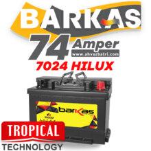 باطری ۷۴R آمپر بلند باراکاس تروپیکال سپاهان باتری HiLUX 7024
