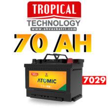باطری ۷۰L آمپر اتمیک تروپیکال(گرمسیری،Tropical)سپاهان باتری