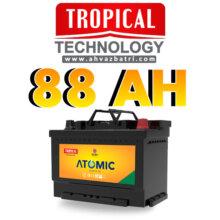 باطری ۸۸ آمپر اتمیک تروپیکال(گرمسیری،Tropical)سپاهان باتری